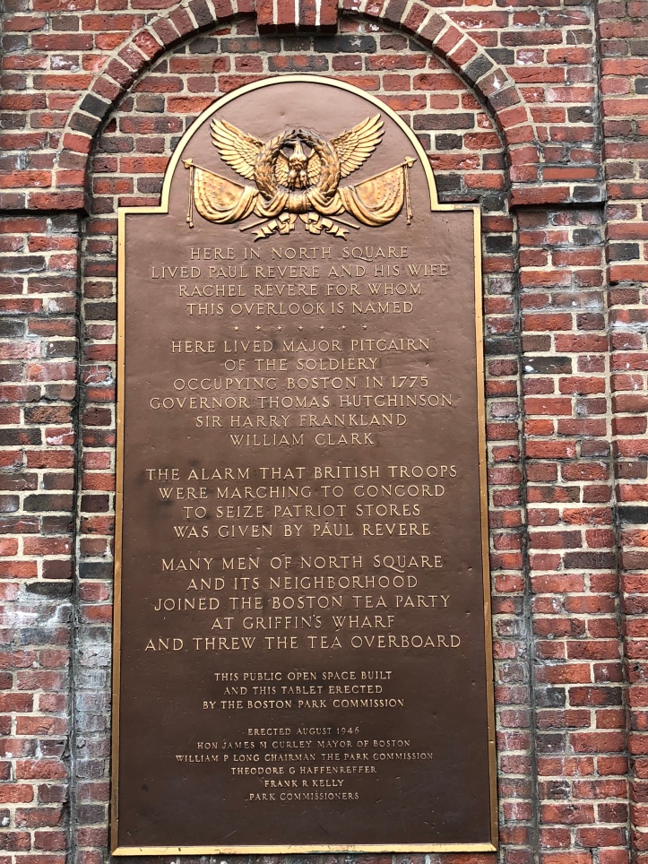 Plaque in North Sqaure near Paul Revere House1